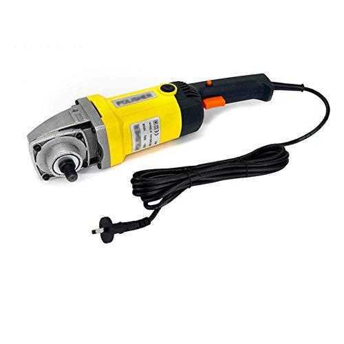 HXFYJ Kit de pulidora de pulidora de Pulido de 1400W, Kit de Detalles para el automóvil, 8 velocidades Variables, manija en D y manija Lateral, para Pulido de Muebles de Piso, Lijado,Yellow