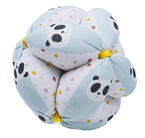 Balla di pressione Montessori, palla per bambini, palla sonaglio o pallina Montessori. Vari modelli e colori disponibili. (Pandas Mint)