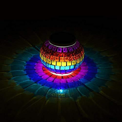 Wodtree Glaskugel-Garten Beleuchtung Farbwechsel LED-Solarlicht wasserdicht solarbetriebene Tischleuchten for Parteien Dekorationen