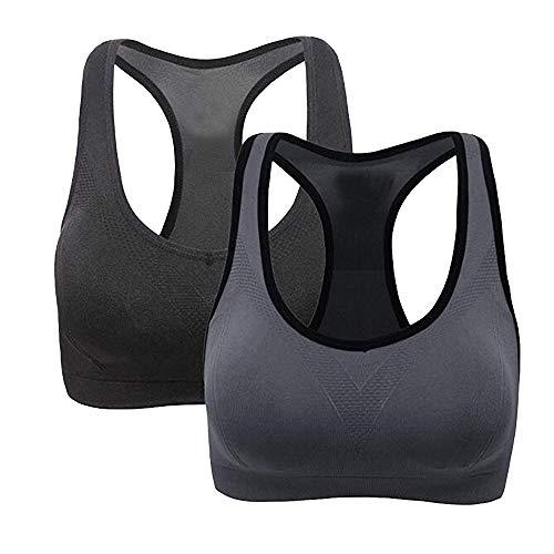 2019 Best Gift!!!Cathy Clara 2PC Women Racerback Sports Bras - High Impact Workout Activewear Bra