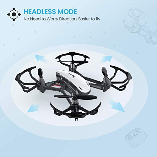 Potensic Drone with Camera D20 Drone WiFi Suspension Function Altitude Discharge Alert and Go-ahead Headless and HD mode Suitable for Beginners, Good Gift for Kids