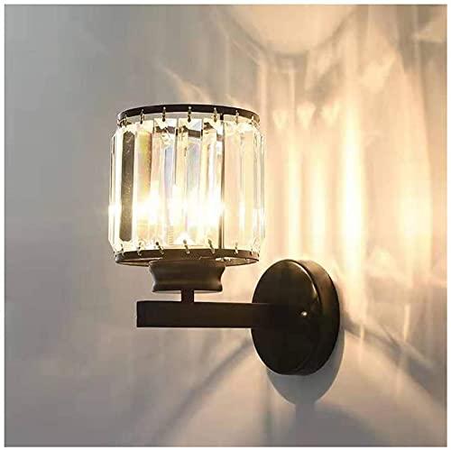 DZCGTP Lámpara de Pared de diseño Moderno, Pantalla de Cristal, Apliques de luz de Pared, Enchufe E27 para Dormitorio, Sala de Estar, Comedor, iluminación