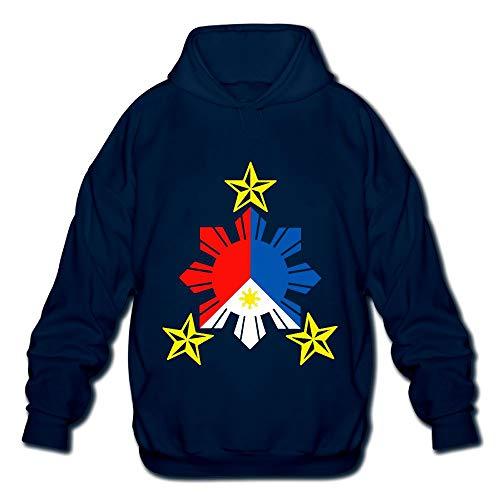Tribal Philippines Filipino Sun and Stars Flag Mens Printed Hooded Sweatshirt Hoodie
