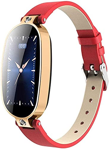 hwbq Reloj Inteligente Pulsera Fitness Tracker Recordatorio de Llamadas Pantalla Color Salud Impermeable Reloj Bluetooth Mujeres-Azul Exquisito/Azul Plata-Rojo Oro