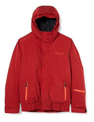 Chiemsee Kinder einfarbig Jacke, Red Dahlia, 122/128