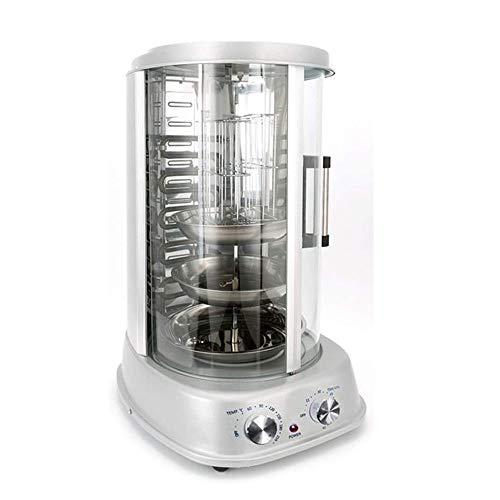 YFGQBCP Profesional Vertical asador Horno Tostador Grill - encimera Kebab Cocina eléctrica giratoria Asador Máquina for Hornear, de Acero Inoxidable W/Bake Ware, fácil de Limpiar, pincho Pinchos for