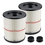 Blutoget 17816 Cartridge Filter Replacement - Compatible with Craftsman Shop Vac Craftsman 17816 9-17816 Wet Dry Vacuum Air Cartridge Filter(Pack of 2)