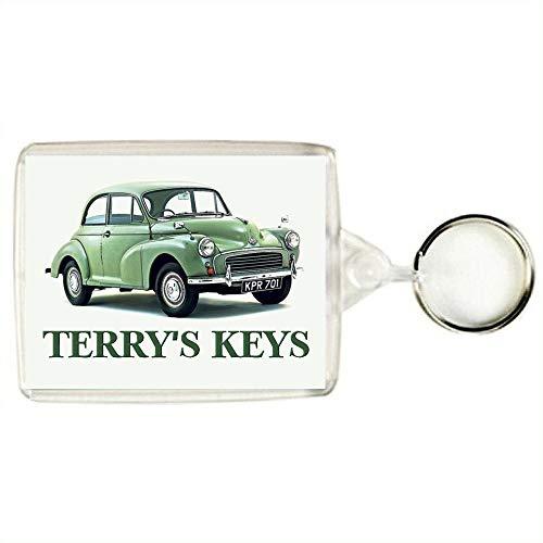 Key Expressions Personalised MORRIS MINOR Classic Car Keyring / Bag Tag