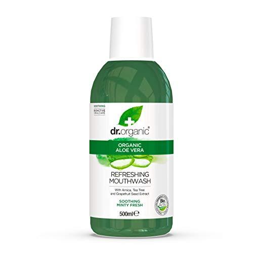 Dr Organic Mundwasser Aloe Vera 500 ml, Preis/100 ml: 1.5 EUR