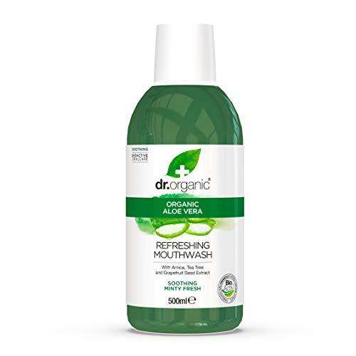 Dr. Organic Enjuague Bucal Aloe Vera Organico 500 ml