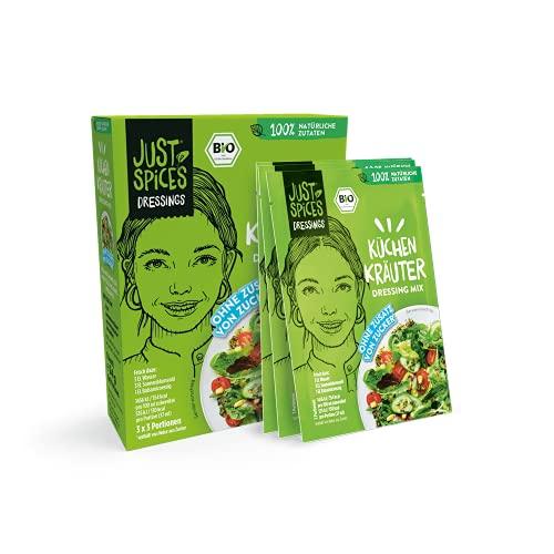 Just Spices Bio Küchen Kräuter Dressing Mix I Einfach, Lecker, Schnell I 100% Natürliche Zutaten & 100% BIO I 30 Stück Vorteilspack