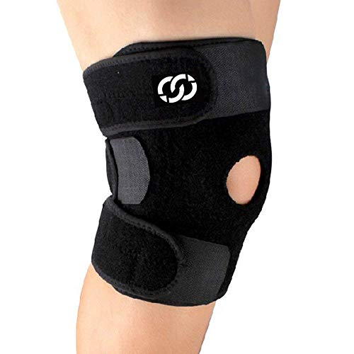 CompressionGear Patella Stabilizing Knee Brace with Side Stabilizers for Arthritis, Best Joint Pain Relief, Torn Meniscus Support, Injury Recovery & P