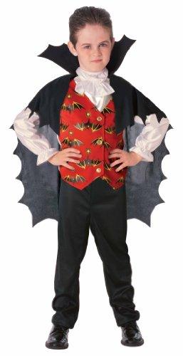 Disfraz de Conde Drácula para niño, infantil 5-7 años (Rubie's 883796-M)