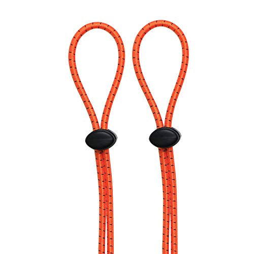 Leshang Swimming Goggles Bungee Strap Rope Buckle Tighter to Strengthen The Elastic Rope Buckle not Easy to Trip (Orange 2Pack, 43 inch)