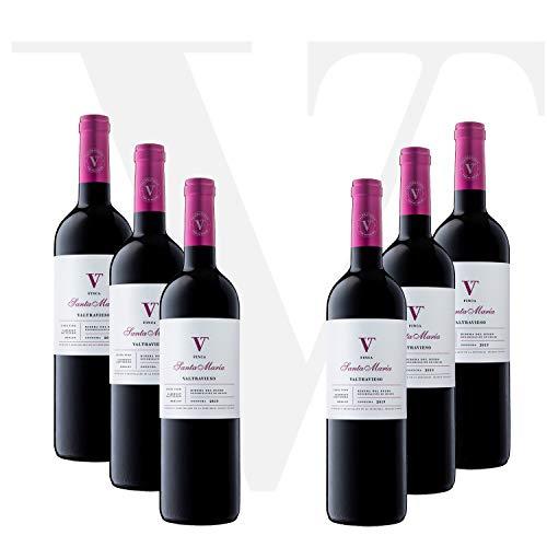 Lote Vino Tinto D.O. Ribera del Duero Pack de 6 Botellas - Finca Santa Maria Roble Valtravieso Denominación de Origen Tinto Fino (98%) Cabernet Sauvignon y Merlot (2%)