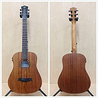 "Caraya Safair 34"" EQ All Mahogany Acoustic Guitar w/Built-in EQ,Tuner+Free Bag"