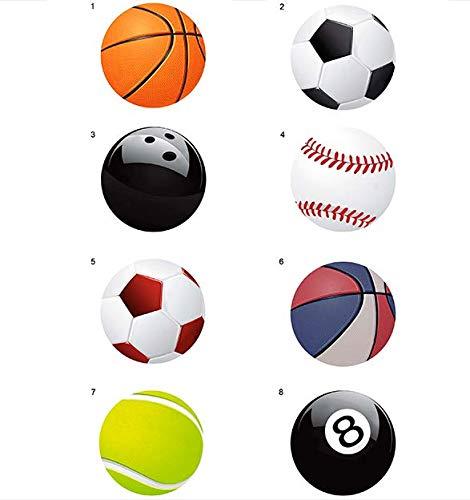 8 parches bolas deporte serigrafiados para planchar - REF.6471-U8