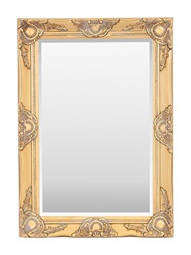 Espejo de Pared de Madera de Haywood, diseño Vintage francés, Estilo Rococo Barroco, 50 cm x 70 cm, decoración Elegante para el hogar, Oro Envejecido, 50 x 70 cm
