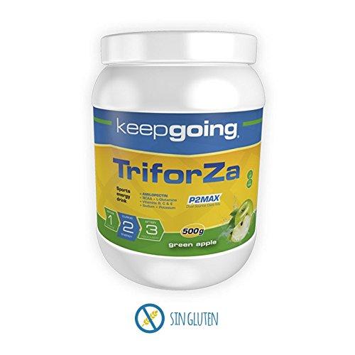 Keepgoing TriforZa Energy · Bebida energética · Bote de 500g. Green Apple.