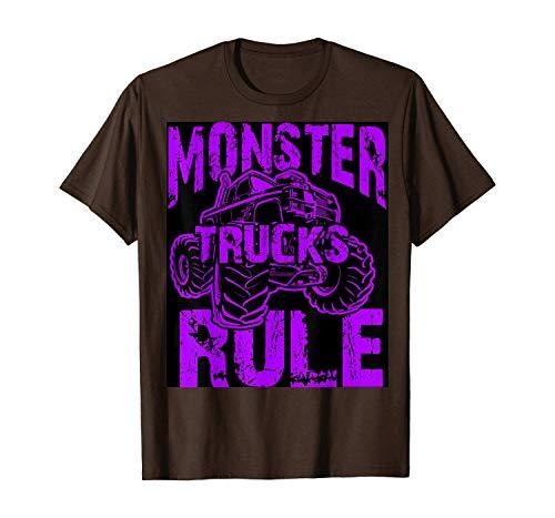 T Shirt Cool Monster Trucks Rule top for Boys & Girls