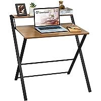 GreenForest 2-Tier Folding Computer Desk