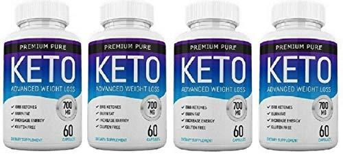 Premium Pure Keto Ketosis Diet Ketogenic Fat Burner (240 caps) - 4 Months Supply