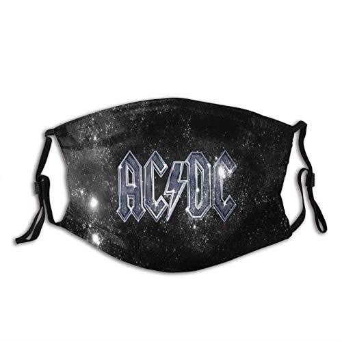 Ac-D-C Mascarillas faciales antipolvo, lavables, reutilizables, máscara de pasamontañas para hombres y mujeres