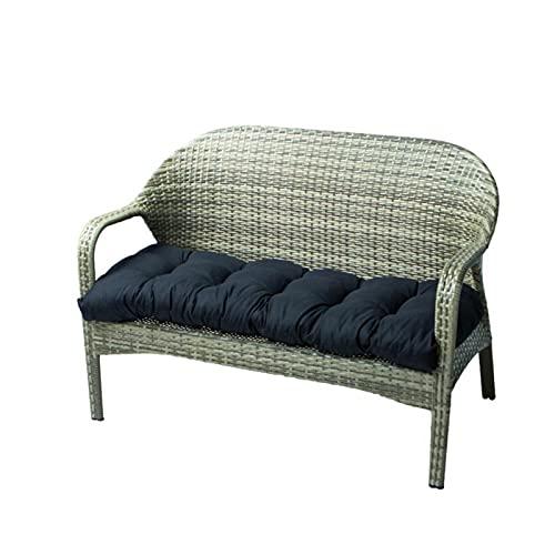 Cojín de banco suave con fijación fija, cojín de columpio largo rectangular para tumbona, muebles de jardín, 130 x 50 cm, macizo