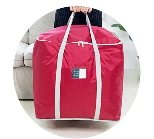 QNN Bolsa de Alenamiento Square Bag Ropa Algodón Bolsa de Alenamiento de Manta Bolso de Equipaje Bolso en Movimiento de la Casa Grande Cubierta Protectora/rojo/pequeña