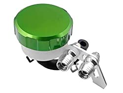Green CNC Machined Brake Clutch Motorcycle Racing Master Cylinder Fluid Reservoir Tank Oil Cup For Aprilia TUONO...