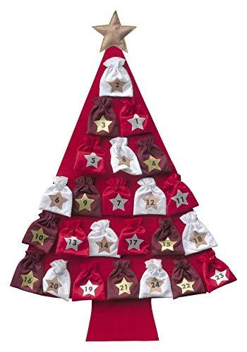My Home XXL-Adventskalender, Tannenbaum, Adventskalender, zum Befüllen, Fast 120cm groß, rot