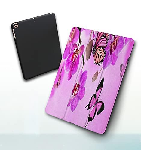 Funda para iPad 9,7 Pulgadas, 2018/2017 Modelo, 6ª / 5ª generación,Amor Bonito Temporadas Cuatro Diseños Colores Hermosos Animales Mariposa Naturaleza Smart Leather Stand Cover with Auto Wake/Sleep