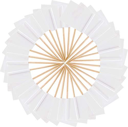 Jieddey Zahnstocher Flaggen,100 PCS Blank Flaggenpicker Weiße Kleine Zahnstocher Käse Marker Flaggen Deko für Party Hochzeit Weihnachten Holleween Ostern