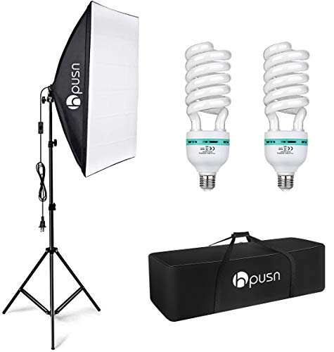 HPUSN Softbox Lighting Kit Photography Studio Light