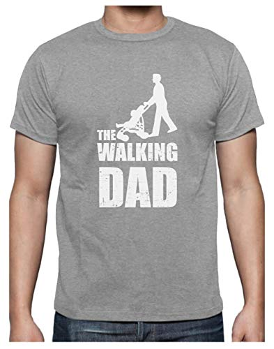 Green Turtle T-Shirts Camiseta para Hombre- Regalos Originales para Padres Primerizos - The Walking Dad Large Gris
