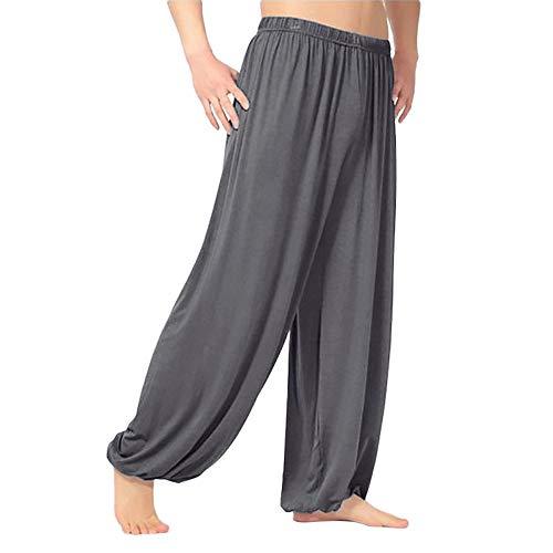Alaso Super Doux Sarouel Pantalon Homme en Modal Pantalon Yoga Pantalon Harem Pantalon Bouffant pour Sport Jogging Danse Pas Cher