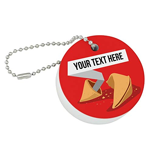 Graphics and More Personalized Custom Fortune Cookie Floating Keychain Round Foam Fishing Boat Buoy Key Float