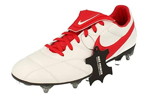 Nike The Premier II SGPRO AC Herren Football Boots 921397 Soccer Cleats (UK 7 US 8 EU 41, White University red 171)
