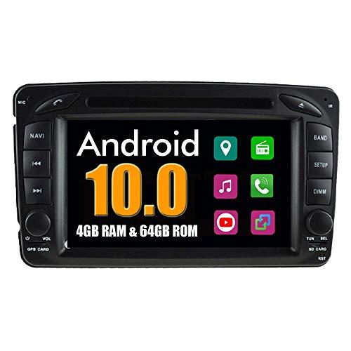 KLL Sistema Android Coche Reproductor de DVD para Mercedes-Benz W203 W210 W209 C200 C180 C220 Old con Radio Navegacioacute;n GPS Esteacute;REO Multimedia Bluetooth USB MirrorLink