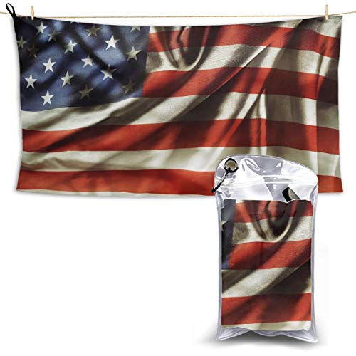 """Mark Broaddus Beach Towel Blanket Sandproof,Sand Free Pool Best American Flag Wallpaper with A Unique Design for Bath,Teens,Travel,Gym,Camping,Pool Swimming,Yoga,Big Large Summer 28.7""""X51""""."""