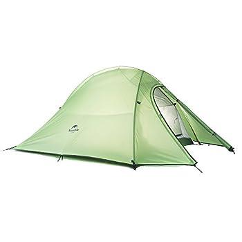 Naturehike Cloud-Up 2 Tente Ultralégère pour 2 Personnes Tente Randonnée Camping Outdoor (210T Vert Standard)
