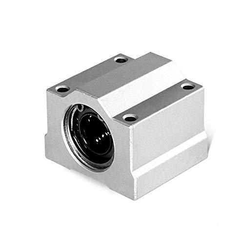 BAIJIAXIUSHANG 2pcs SC16UU SC20UU SC25 SC30 SC12LUU SC16LUU SC20LUU Linear Ball Bearing Block for CNC Router 3D Printer Parts (Inner Diameter : SC16UU, Number of Pcs : 2Pcs)
