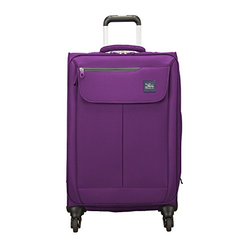 Skyway Mirage 2.0 Spinner Luggage, Purple Magic, Checked-Medium 24-Inch