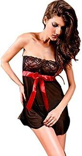 041e3d3ca569 KamX New Sexy Women's Lingerie Lace Nightwear Underwear Black Babydoll(Free  Size)