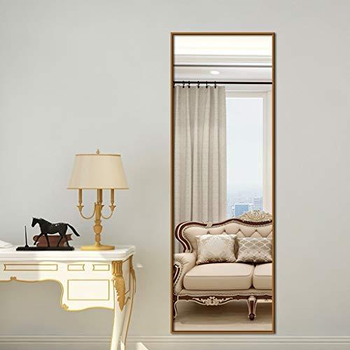 FENGMI Espejo vestidor de Pared de Aluminio Dormitorio Muro Simple Espejo de Cuerpo Entero HD Espejo a Prueba de explosiones (Color : Gold, Size : 40 * 150 cm)