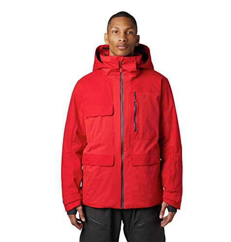 Mountain Hardwear Men's Firefall/2 Insulated Jacket | Waterproof for Skiing, Snowboarding, and Other Cold-Weather Activities - Racer - Large