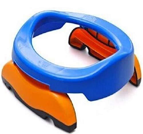 Hpybest nieuwe draagbare baby baby kamer potten Foldaway wc training stoel reizen Potty ringen met urine tas voor kinderen blauw roze Blauw