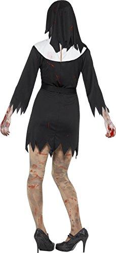 SMIFFYS Costume Consorella zombie, Nero, abito, copricapo, cintura e collana con crocifi