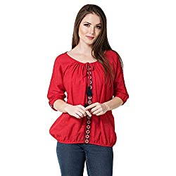 AANIA Beautiful Embroidered Exclusive Casual Cotton Womens Top