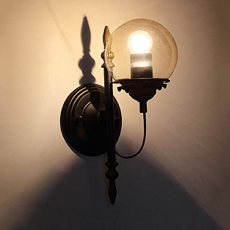 Vintage Eisen Wandleuchten, Nordic LED Runde Glaskugel Beleuchtung Hngelampe Wandlampen Postmodern Esstisch Bar Gang Wandleuchte (Design   B)
